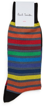 Paul Smith Colour-Block Striped Socks (Pack of 2)