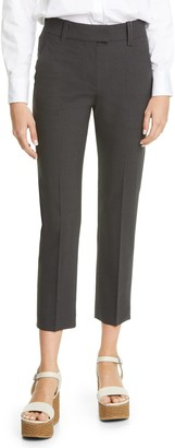 Brunello Cucinelli Tropical Wool Blend Ankle Pants