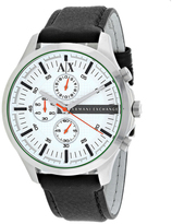 Armani Exchange Chronograph Collection AX2165 Men's Leather Strap Watch