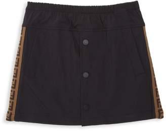 Fendi Little Girl's & Girl's Logo A-Line Skirt