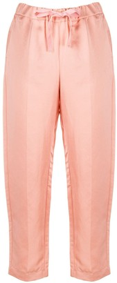Semi-Couture Cropped Tapered Trousers