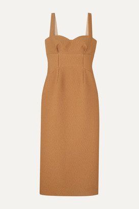 Emilia Wickstead Cloque Midi Dress - Gold