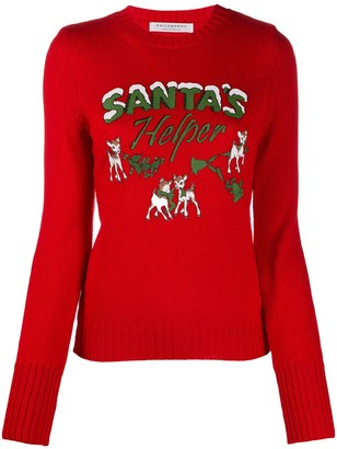 Philosophy di Lorenzo Serafini slim-fit Christmas print jumper