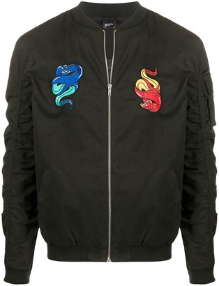 Blood Brother Snake Patches Bomber Jacket