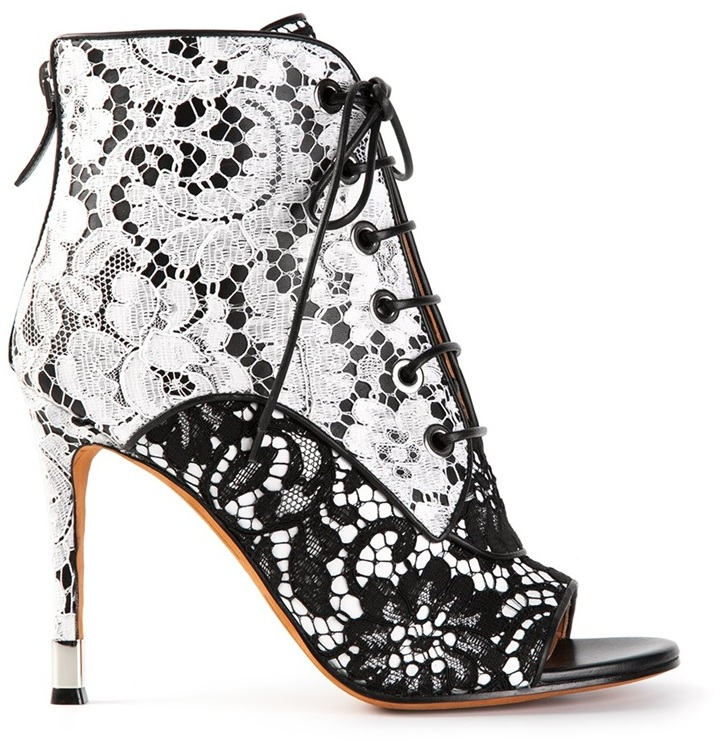 Givenchy floral lace booties