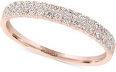 Effy Pavé Rose by Diamond Pavé Band (1/3 ct. t.w.) in 14k Rose Gold