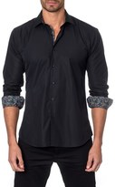 Jared Lang Trim Fit Textured Sport Shirt