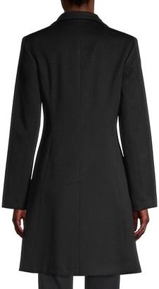 Sofia Cashmere Funnel-Neck Wool-Blend Coat