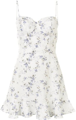 Reformation Mariana floral-print mini-dress