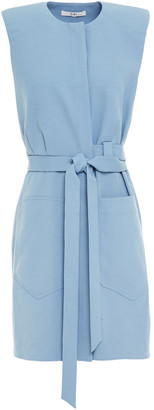 Tibi Belted Stretch-crepe Dress