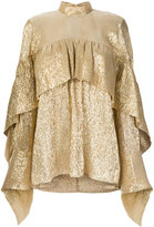 Petar Petrov tiered high neck blouse