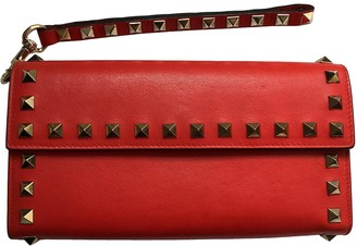 Valentino Red Leather Wallets