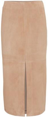 Intermix Naomie Suede Midi Skirt