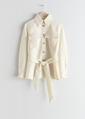 And other stories Belted Workwear Jacket