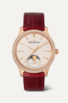 Jaeger-LeCoultre Jaeger Lecoultre Master Ultra Thin Moon Automatic 34mm Rose Gold, Alligator And Diamond Watch