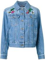 Muveil patches denim jacket - women - Cotton - 38