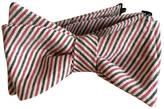 Red & Black Seersucker Bow Tie