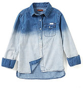 7 For All Mankind Big Girls 7-16 Ombre Woven Top