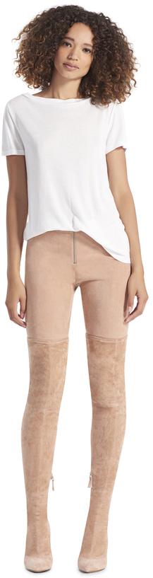 Alice + Olivia Front Zip Suede Legging
