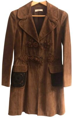 Prada Brown Suede Coats