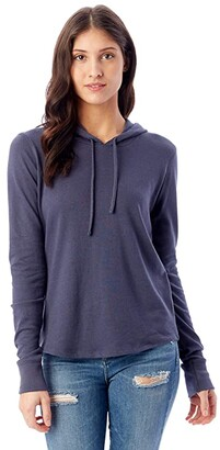 Alternative Cozy Pullover Hoodie (Black) Women's Sweater
