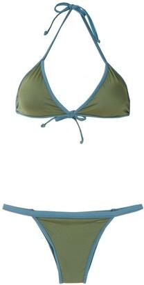 ESC Bicolo triangle bikini set