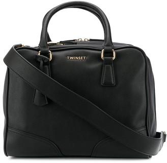 Twin-Set Double-Zip Tote Bag