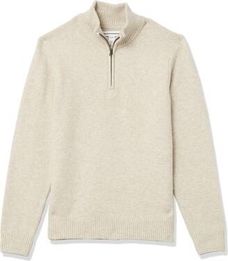 Amazon Essentials Men's Long-Sleeve Soft Touch Quarter-Zip Sweater
