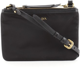 Prada Double Zip Crossbody Bag Tessuto Small