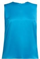 Roksanda Kobe Silk-satin Top - Womens - Blue