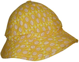 Hermes Yellow Cotton Hats