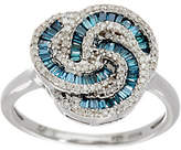 Affinity Diamond Jewelry Baguette & Round Diamond Love Knot Ring, Sterl,by Affinity