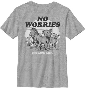 Fifth Sun Boys' Tee Shirts ATH - The Lion King Athletic Heather 'No Worries' Crewneck Tee - Boys