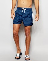 Brave Soul Retro Swim Short In Stripe
