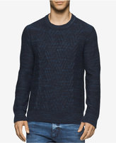 Calvin Klein Jeans Men's Space-Dyed Cable-Knit Sweater
