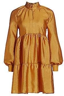 Stine Goya Women's Jasmine Metallic Tiered Mini Dress