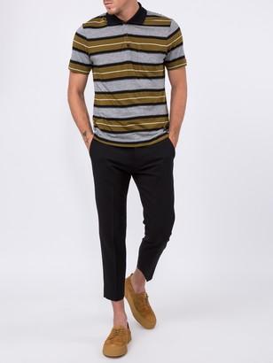 Ami Alexandre Mattiussi Short Sleeve Striped Polo Shirt With Ami Label