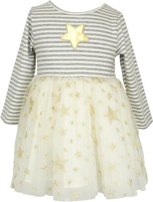 Popatu Stripe & Star Tulle Dress