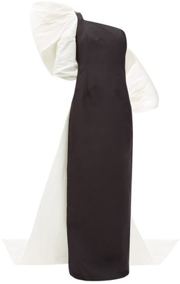 Carolina Herrera Exaggerated-bow Silk-faille Gown - Black White