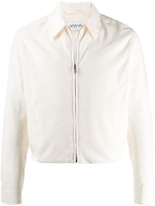 Lanvin Logo Detail Zip-Up Jacket