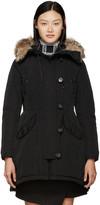 Moncler Black Down Ariette Coat