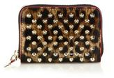 Christian Louboutin Panettone Spiked Leopard-Print Coin Purse