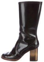 Dolce & Gabbana Brogue Knee-High Boots