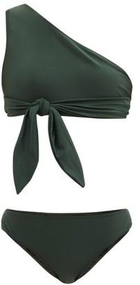 Adriana Degreas One-shoulder Self-ties Bikini - Dark Green