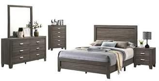 Union Rustic Fern Rock Platform 5 Piece Bedroom Set Union Rustic Bed Size: Eastern King