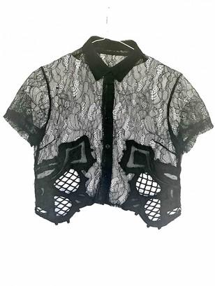 Kokon To Zai Black Lace Top for Women