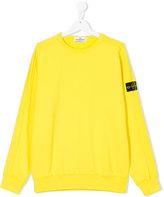 Stone Island Junior - crew neck sweatshirt - kids - Cotton - 14 yrs