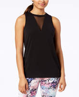 Material Girl Active Juniors' Mesh-Inset Tank Top, Created for Macy's
