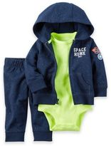 Carter's Newborn 3-Piece Space Hunk Little Jacket, Bodysuit, and Pant Set in Navy/Green