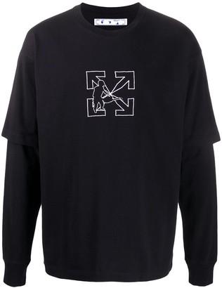 Off-White Logo Work layered T-shirt